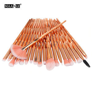 NEW Korean! 20pcs Diamond Makeup Brushes S…